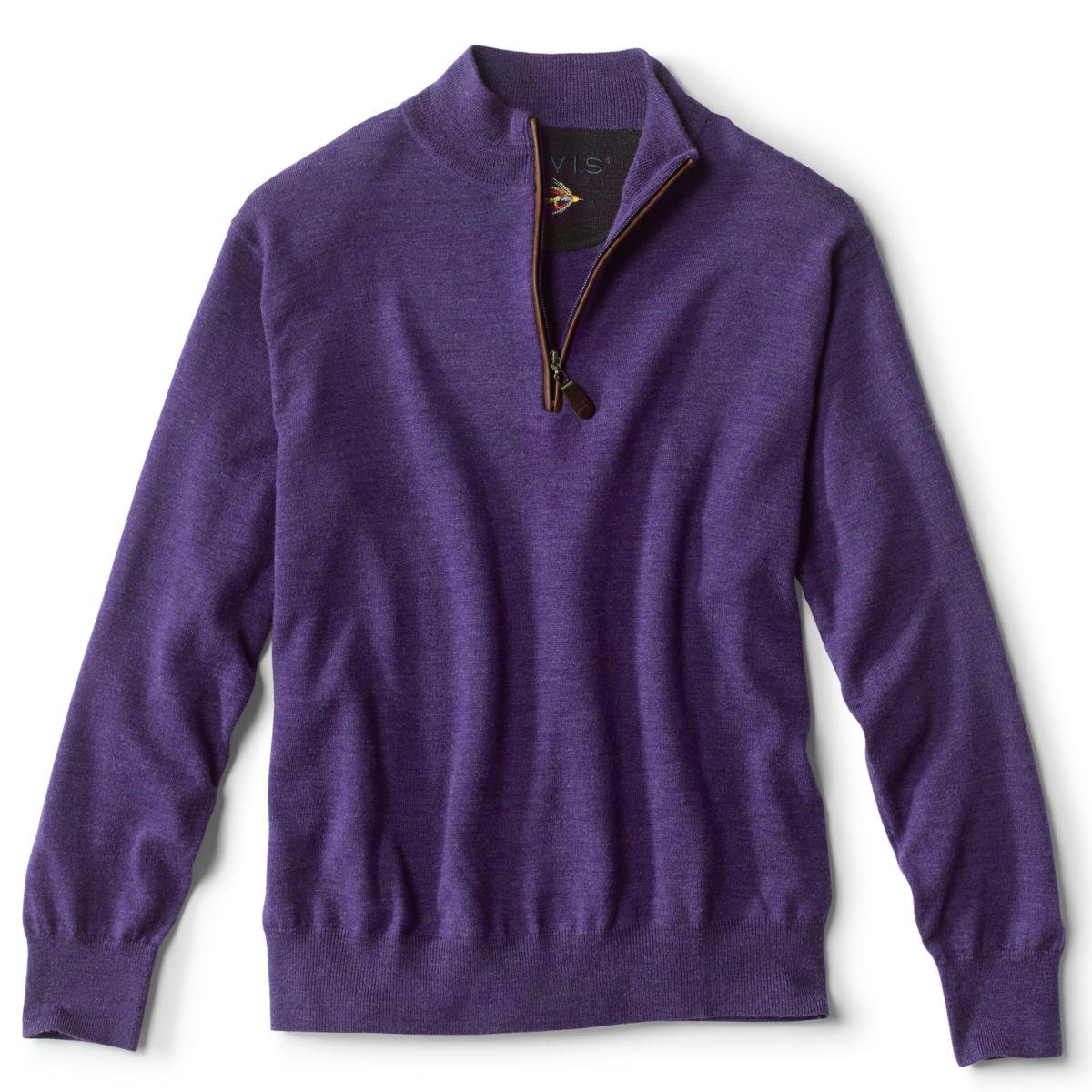 Merino Wool Zipneck Sweater - image number 0