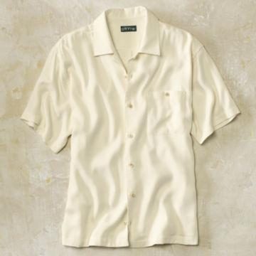 Silk Twill Havana Short-Sleeved Shirt -  image number 0