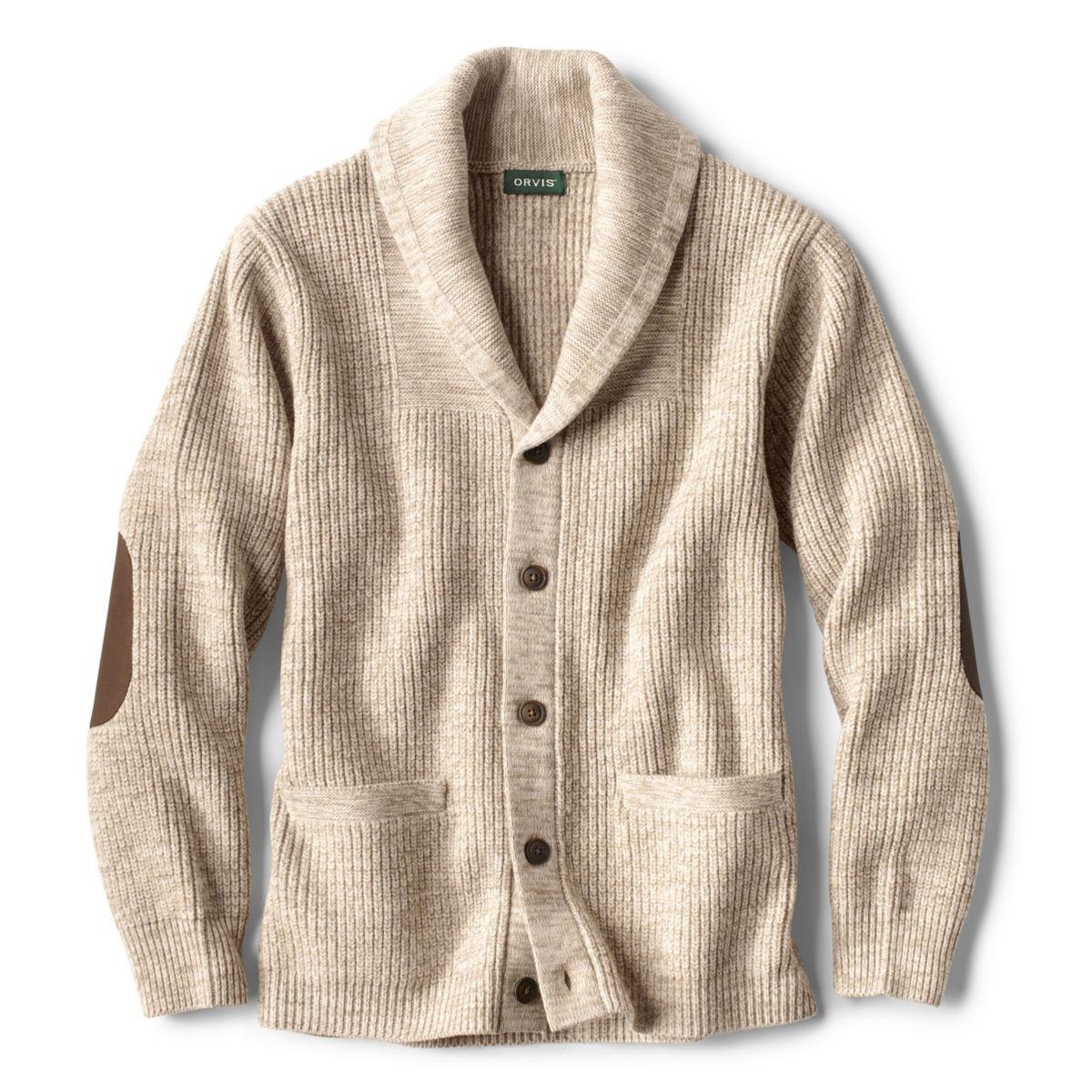 Men's Wool-Blend Shawl Cardigan Sweater - image number 0