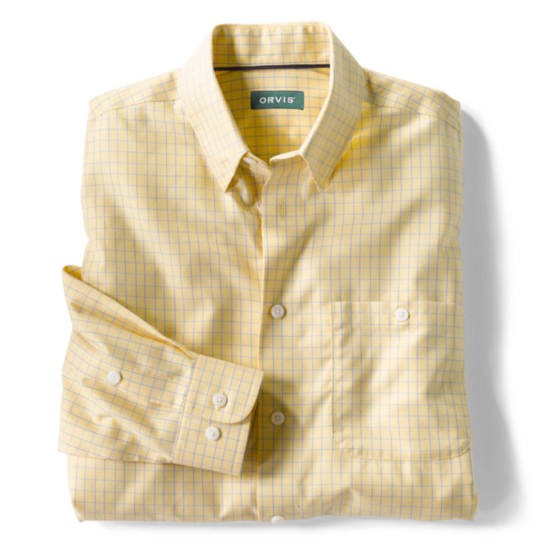 Hidden-Button-Down Wrinkle-Free Cotton Twill Shirt - Regular -  image number 4
