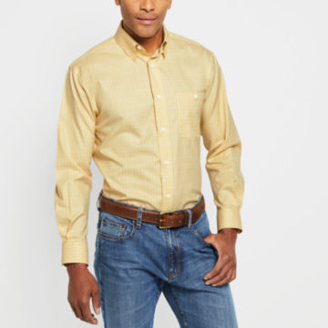 Hidden-Button-Down Wrinkle-Free Cotton Twill Shirt - Regular -  image number 1