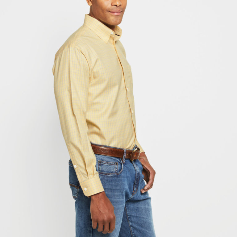 Hidden-Button-Down Wrinkle-Free Cotton Twill Shirt - Regular -  image number 2