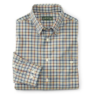Hidden-Button-Down Wrinkle-Free Cotton Twill Shirt - Regular -