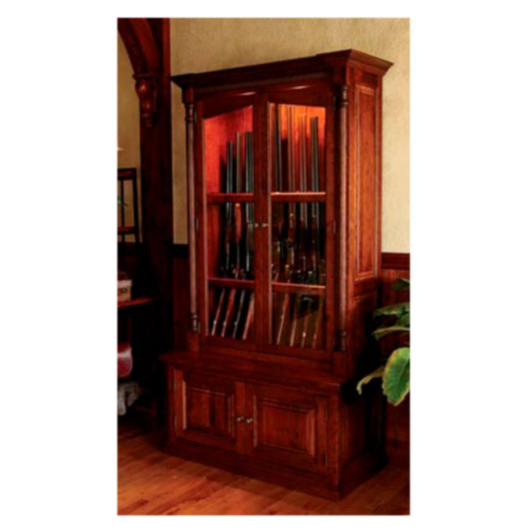 Cherrywood Security Gun Cabinet -  image number 0