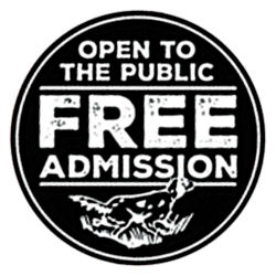 Badge that states Admission to Game Fair is Free