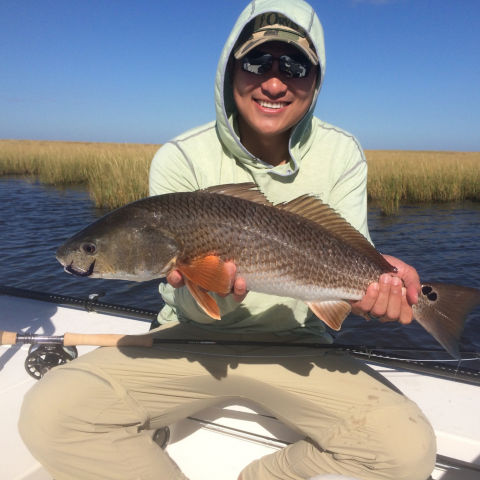 Fly-fishing for redfish became Ian's obsession when he moved to Baton Rouge.