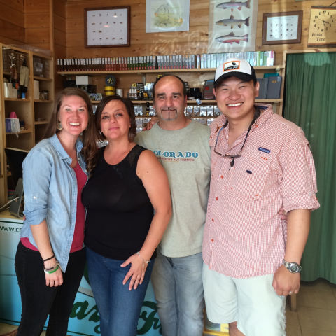 Ian and Carmen Rae (left) befriended the owners of Rome's only fly shop.