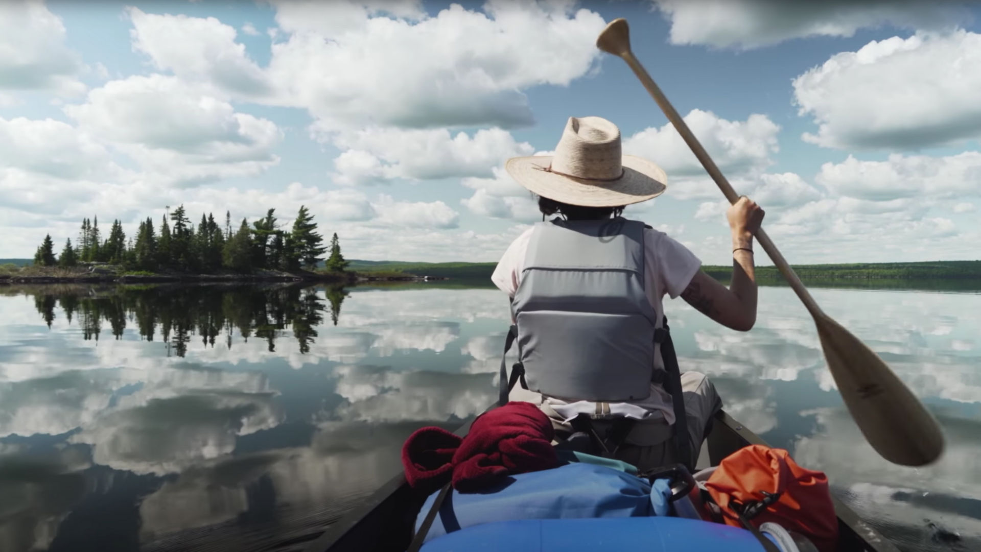 Kayaking the Labrador taiga.