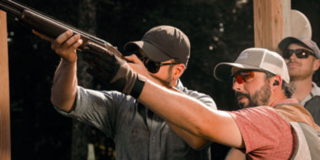 Orvis wingshooting instructor with a student