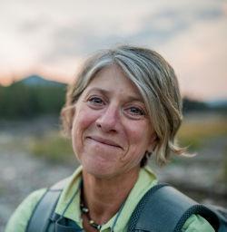 Close-up of a smiling Maureen Magill