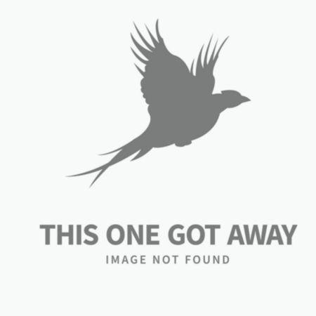 A broken open shotgun slung over a hunter's shoulder